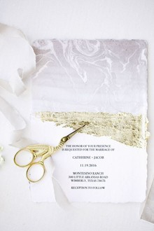 Marble wedding invitations