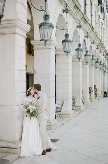 Mediterranean island wedding