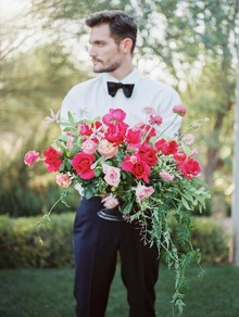 Romantic pink and navy wedding ideas