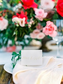 Calligraphy place card