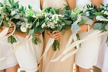 DIY green bouquets