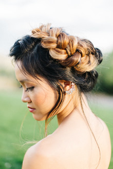 Braided bridal updo