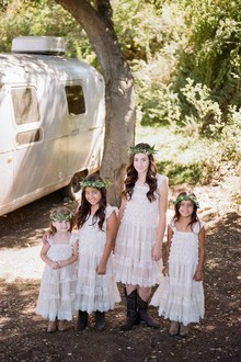 Bohemian flower girls