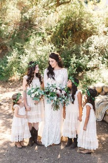 Rustic flower girls