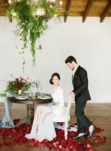 Winter romance wedding