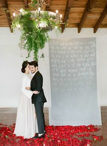 Winter romance wedding inspiration