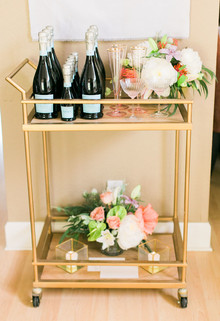 Gold bar cart