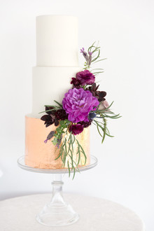 Anthropologie inspired wedding cake
