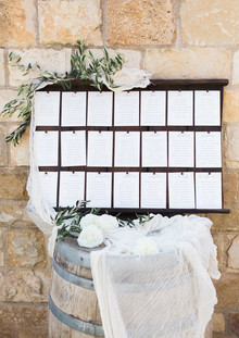 Wedding seating chart