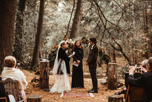 Woodland wedding ceremony
