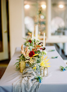 Winter centerpiece idea