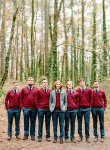 Winter groomsmen fashion