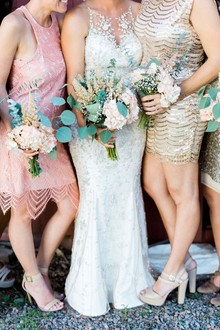 Sequin bridesmaids dresses