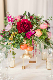 Red and gold centerpiece