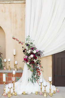 Romantic Valentine's garden wedding inspiration