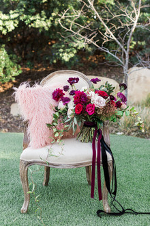 Marsala bridal bouquet