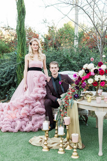 Pink + gold wedding