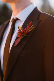 Red boutonnière