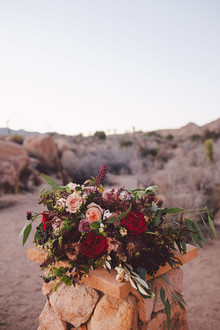 Desert wedding flowers