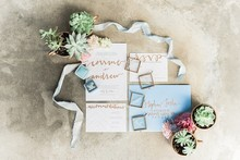 Desert wedding invites
