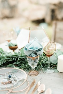 Copper place setting