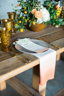 Dip-dyed place setting