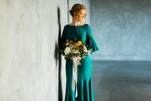 Teal anniversary dress