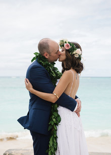 Tropical wedding portrait