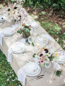 Garden wedding tablescape