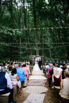 Bohemian backyard wedding in Pennsylvania