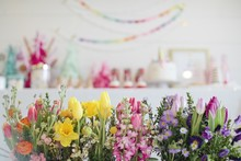 Spring floral unicorn birthday party