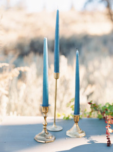 Blue taper candles