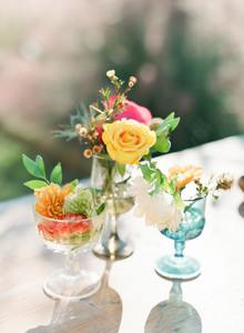 Colorful centerpieces