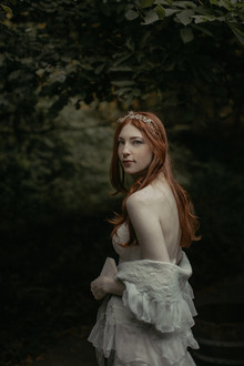 Forest bridal portrait