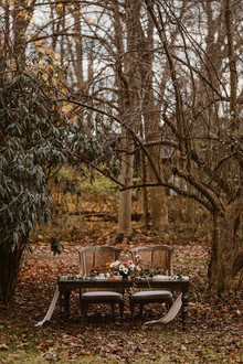 Woodland sweetheart table