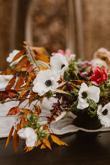 Anemone wedding florals
