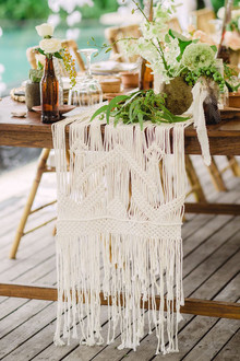 Macrame table runner