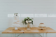 White dessert table