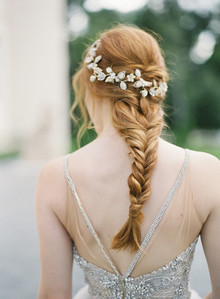 Bridal fishtail braid