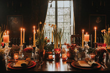 Moody wedding tablescape
