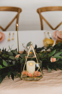 Gold geometric decor