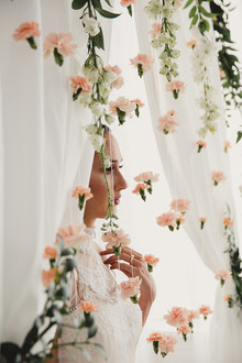 Spring floral backdrop