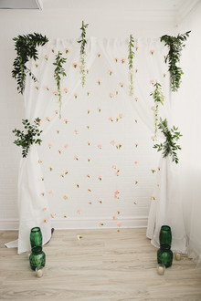 Spring wedding backdrop