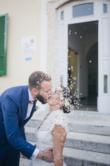 Confetti wedding portrait