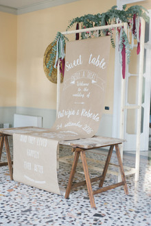 Dessert tables sign