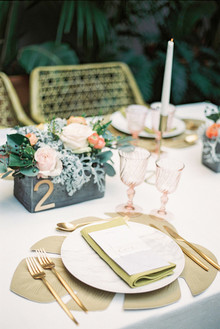 Modern gold place setting