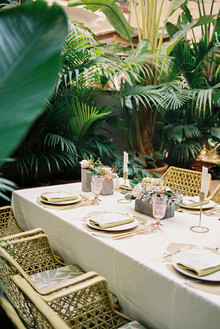 Tropical pink and gold wedding inspiration