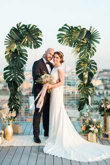 Tropical wedding ceremony