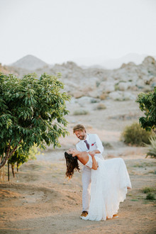 Desert wedding portraits