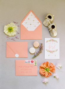 spring baby shower invites